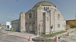 The former Agudath B'nai Israel Synagogue was the home of New Bethel Primitive Baptist beginning in 1974. The building is now vacant.