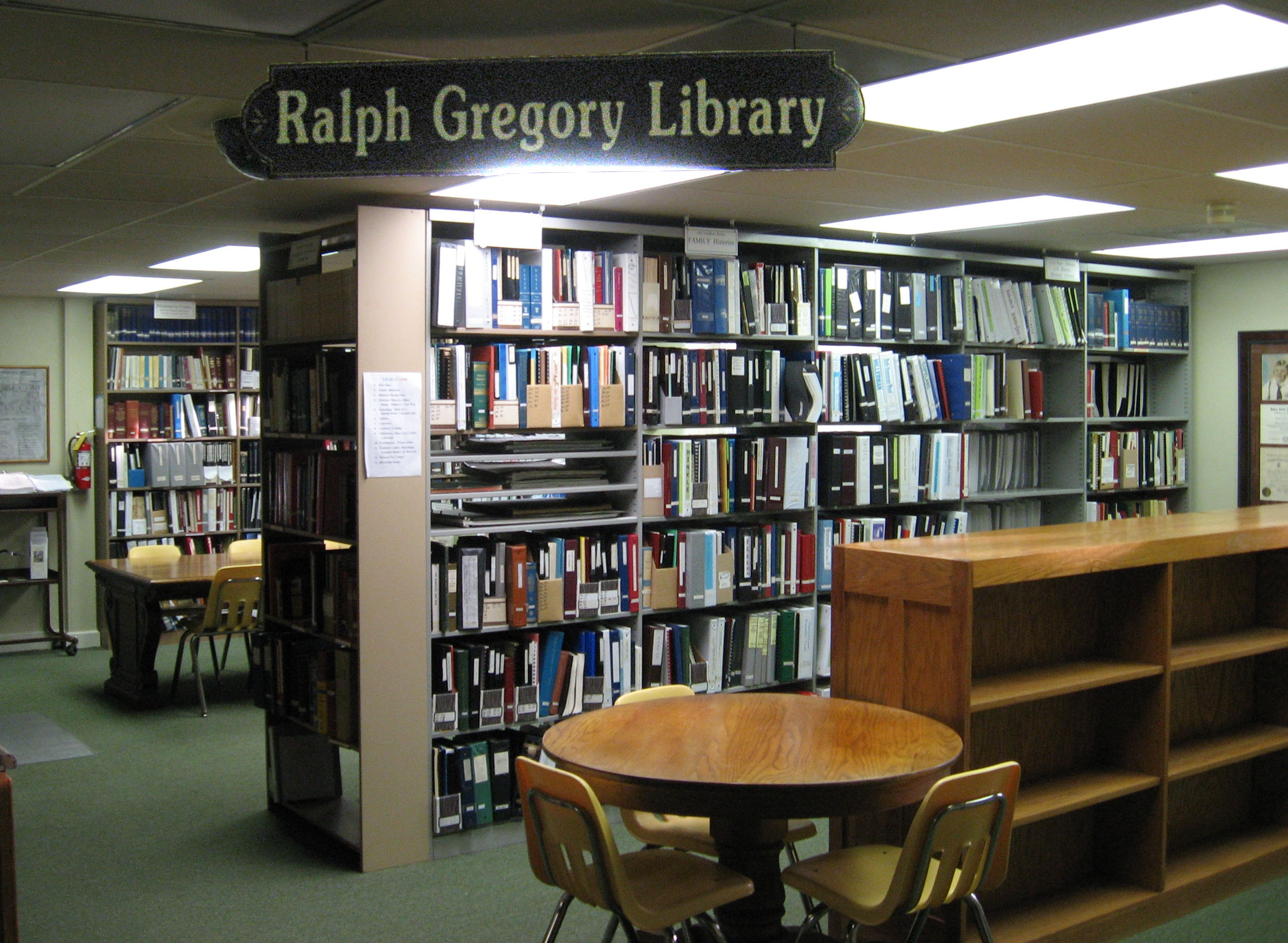 Ralph Gregory Library, located on first level of the museum, is the home of the Four Rivers Genealogical Society. It promotes genealogical research, assists members and others in researching and documenting family histories.