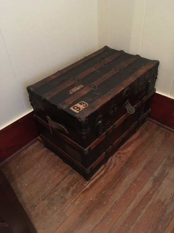 Both students and the Sisters would have used large traveling trunks. There was a room or space in the attic specifically for storing these.