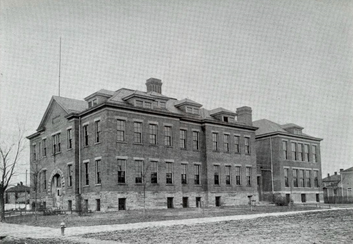 Ensign School from corner of 4th Avenue & 21st Street circa 1910-11.