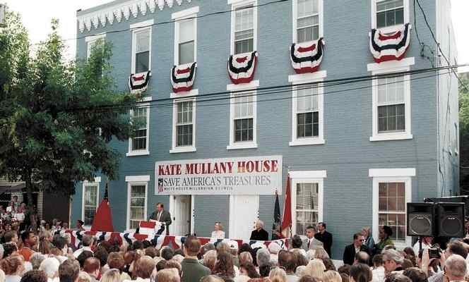 The Kate Mullany House is being declared as a National Historic Landmark on July 15th,1998.