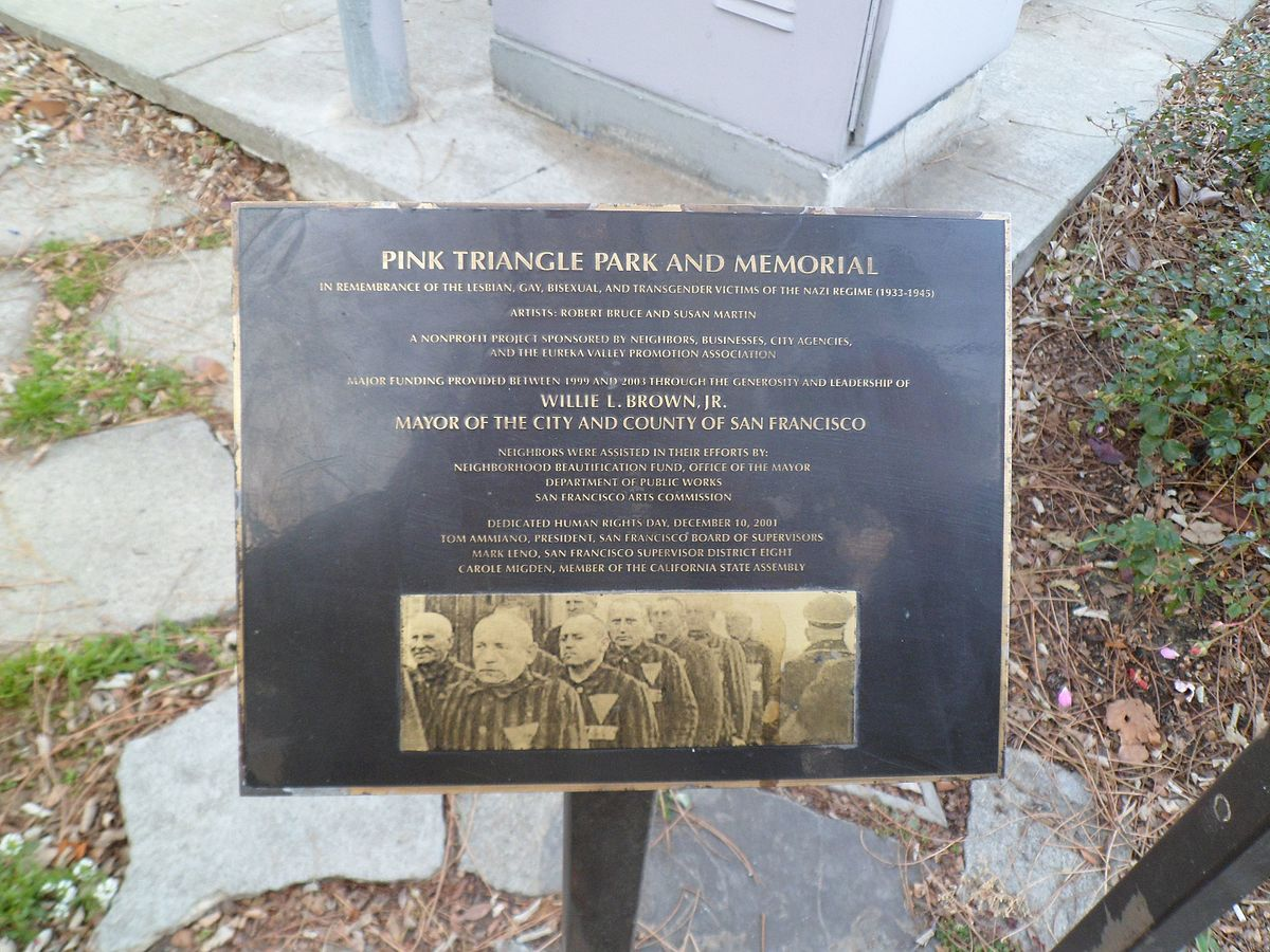 This plaque offers information about the memorial park which was dedicated in 2001.