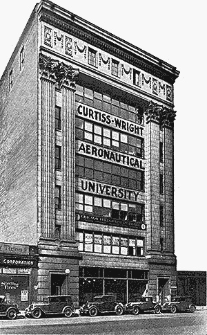 Curtiss-Wright Aeronautical University trained hundreds of African American pilots and mechanics at this location from 1929 to 1953,