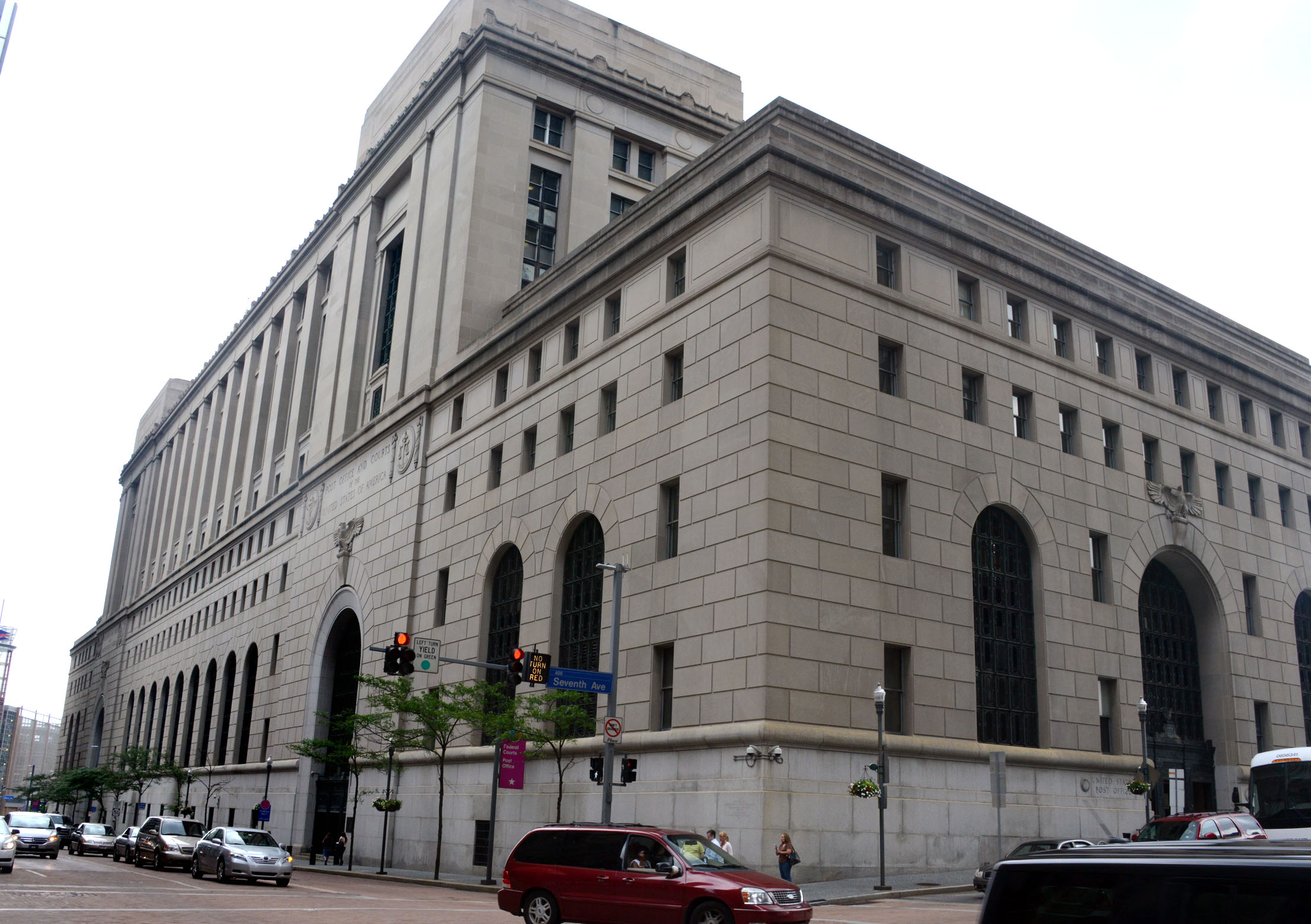 The federal building that sits on downtown Pittsburgh's Grant Street still serves as the United States District Court for the Western District of Pennsylvania.  However, the postal services that were once housed there have since relocated.