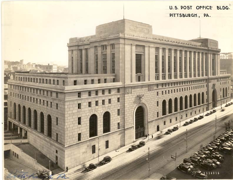 The courthouse and post office as it looked shortly after it opened in 1934.