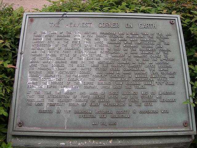 This marker was erected on May 23, 1985 by the Birmingham Historical Society.