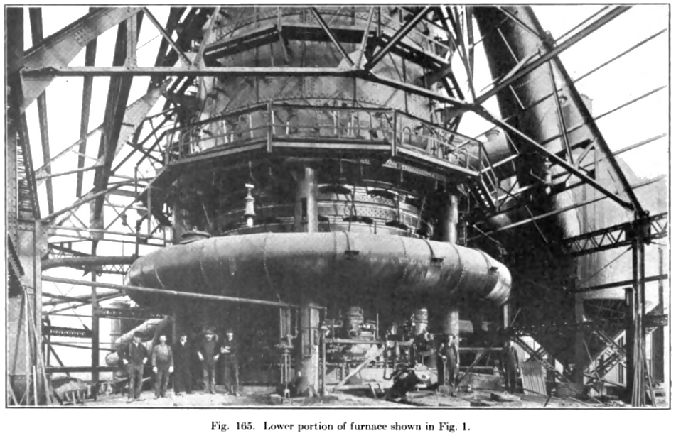 The company began building this steel furnace at Indiana Harbor in 1901.