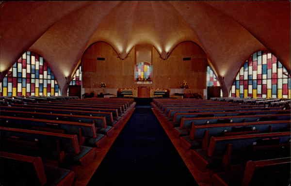 Calvary Southern Baptist interior, historical