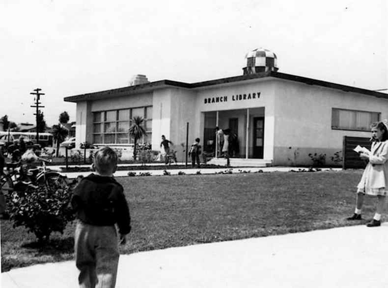 The library building, 1951