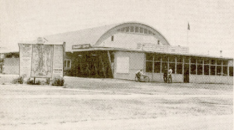 Tenant Activity Building, 1943, photo c. 1954