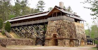 One of the huge forges at Tannehill Ironworks Historical State Park, which was established in 1971.
