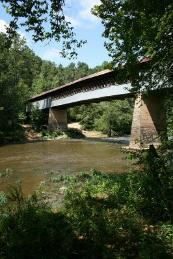 The Swann Covered Bridge is the longest still standing covered bridge in Alabama.