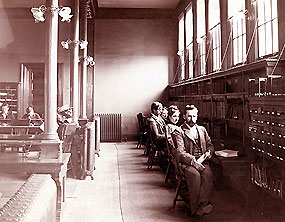 The library as it appeared in the 1890s.