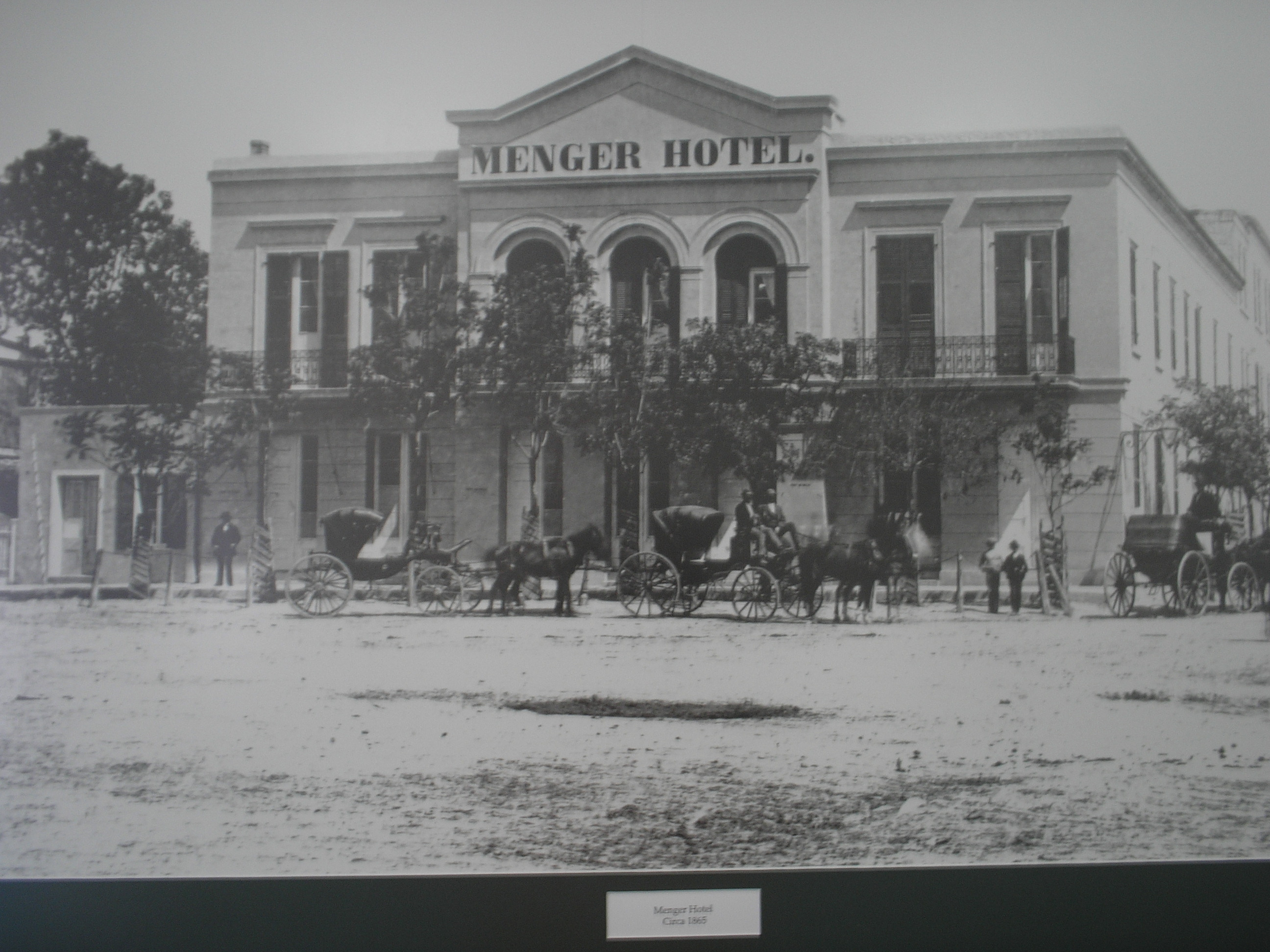 A photo of the hotel in the nineteenth century.
