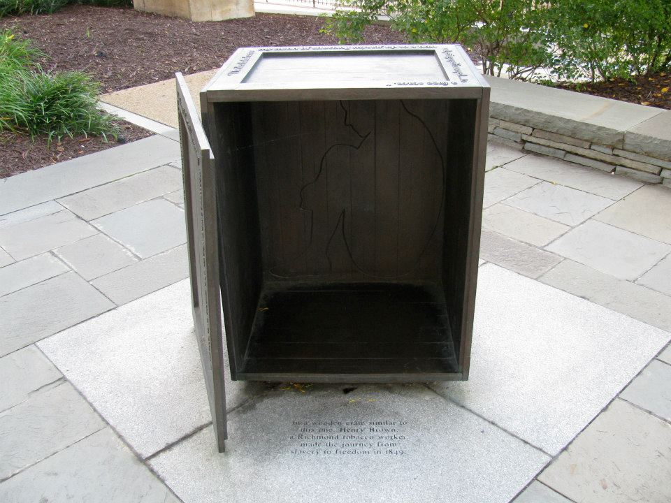 Visitors to the monument can imagine what Brown's journey might have entailed as he stayed in a box this size for 27 hours while he awaited his fate.