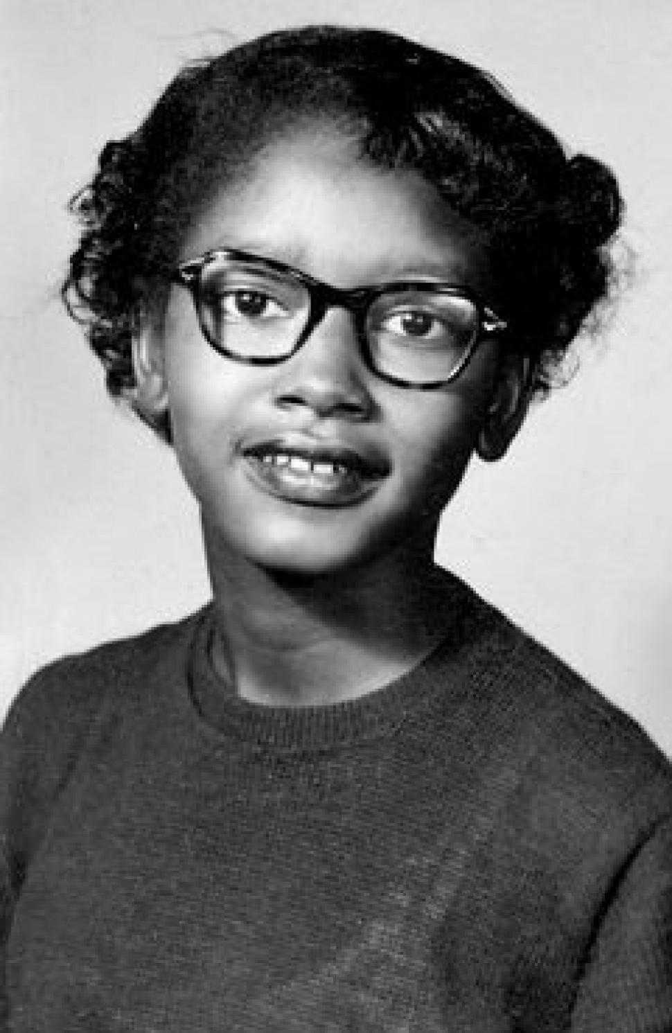 This is Claudette Colvin at age 15 the year she got arrested for violating Segregation Laws.