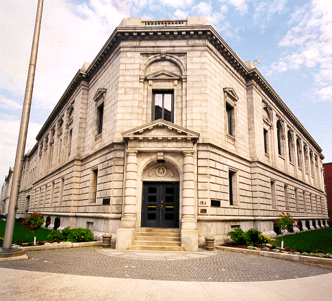 The Edward T. Gignoux Courthouse color photo provided by the GSA in the public domain