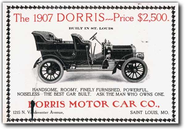 Advertisement for Dorris automobile (1907)