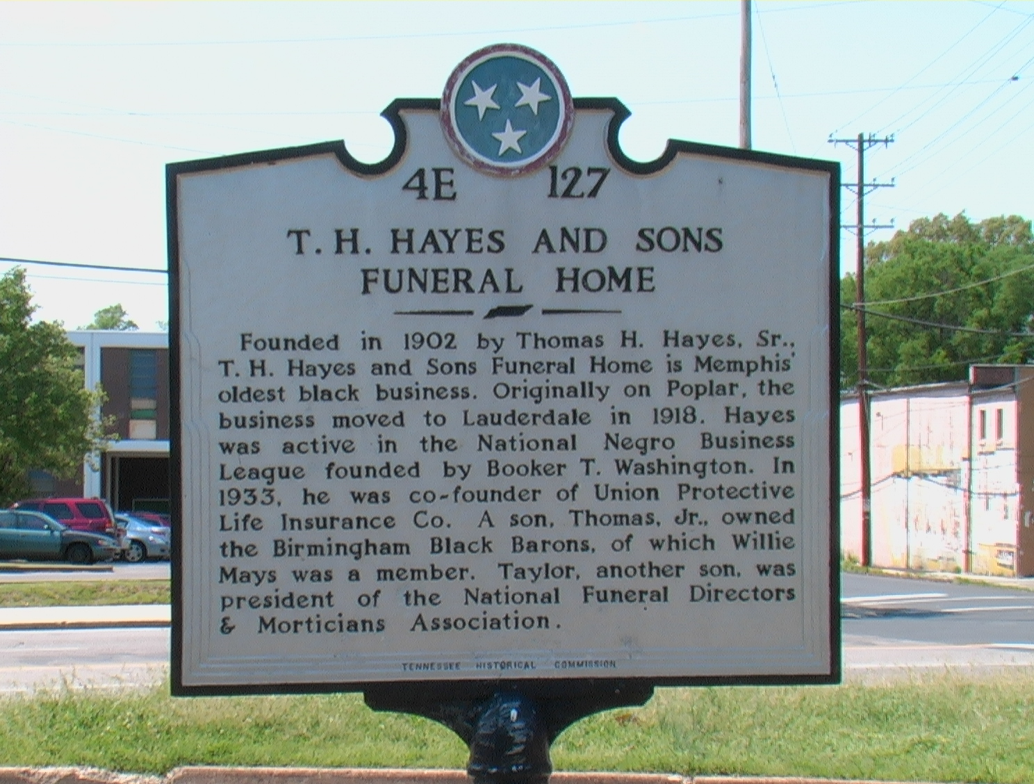 Historical Marker for T.H. and Sons Funeral Home