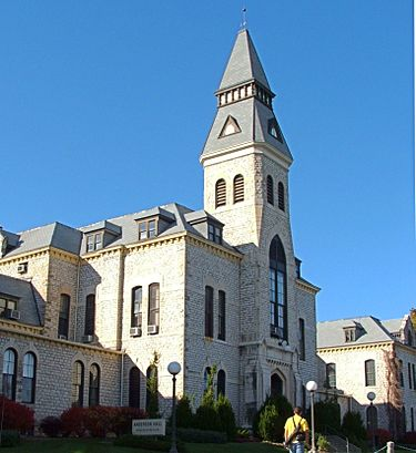 Anderson Hall is the central administrative building of Kansas State University