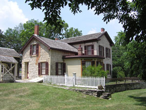 The Goodnow House Museum is located next door to the Riley County Historical Museum