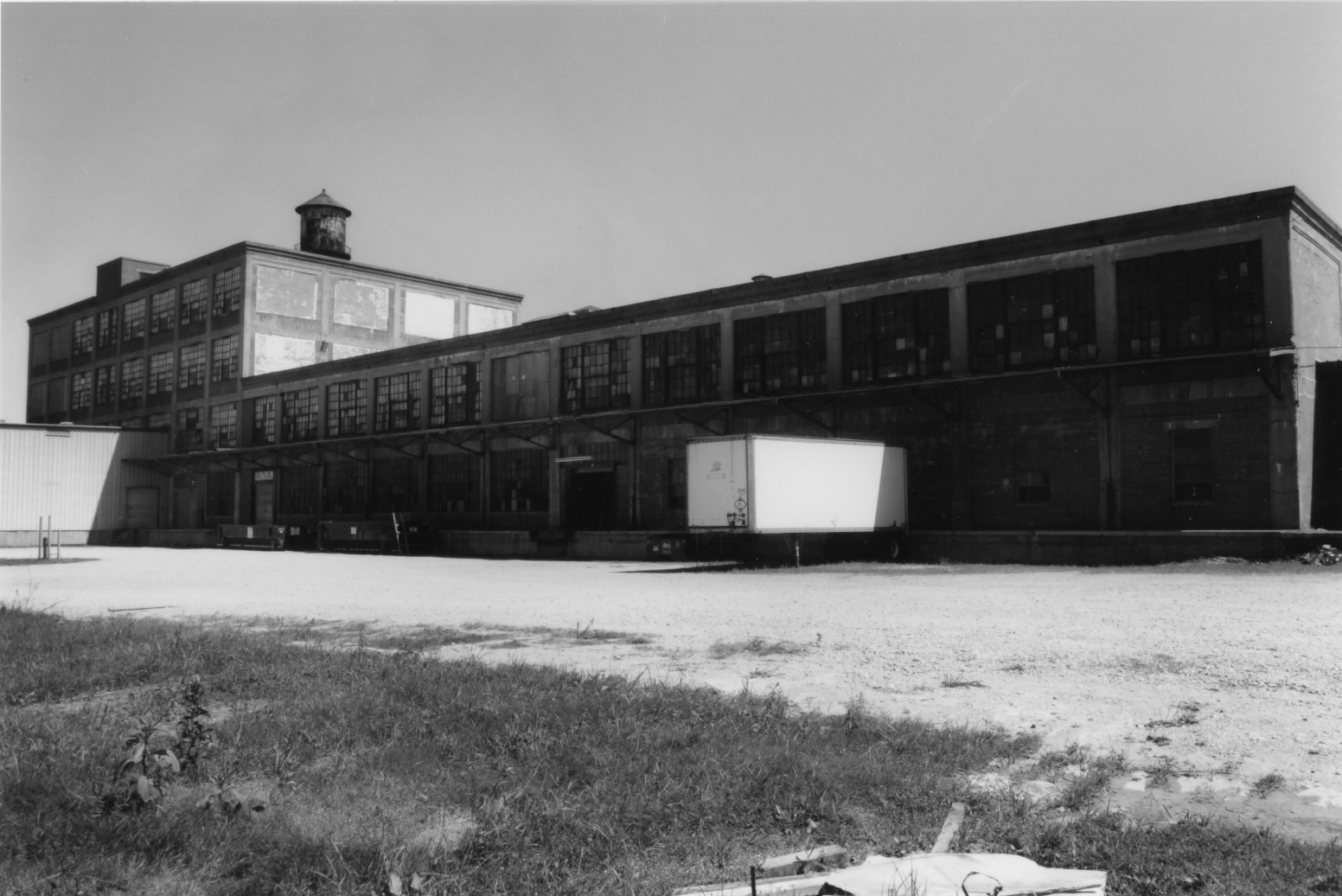 Loading dock of the former factory, pictured in 1998
