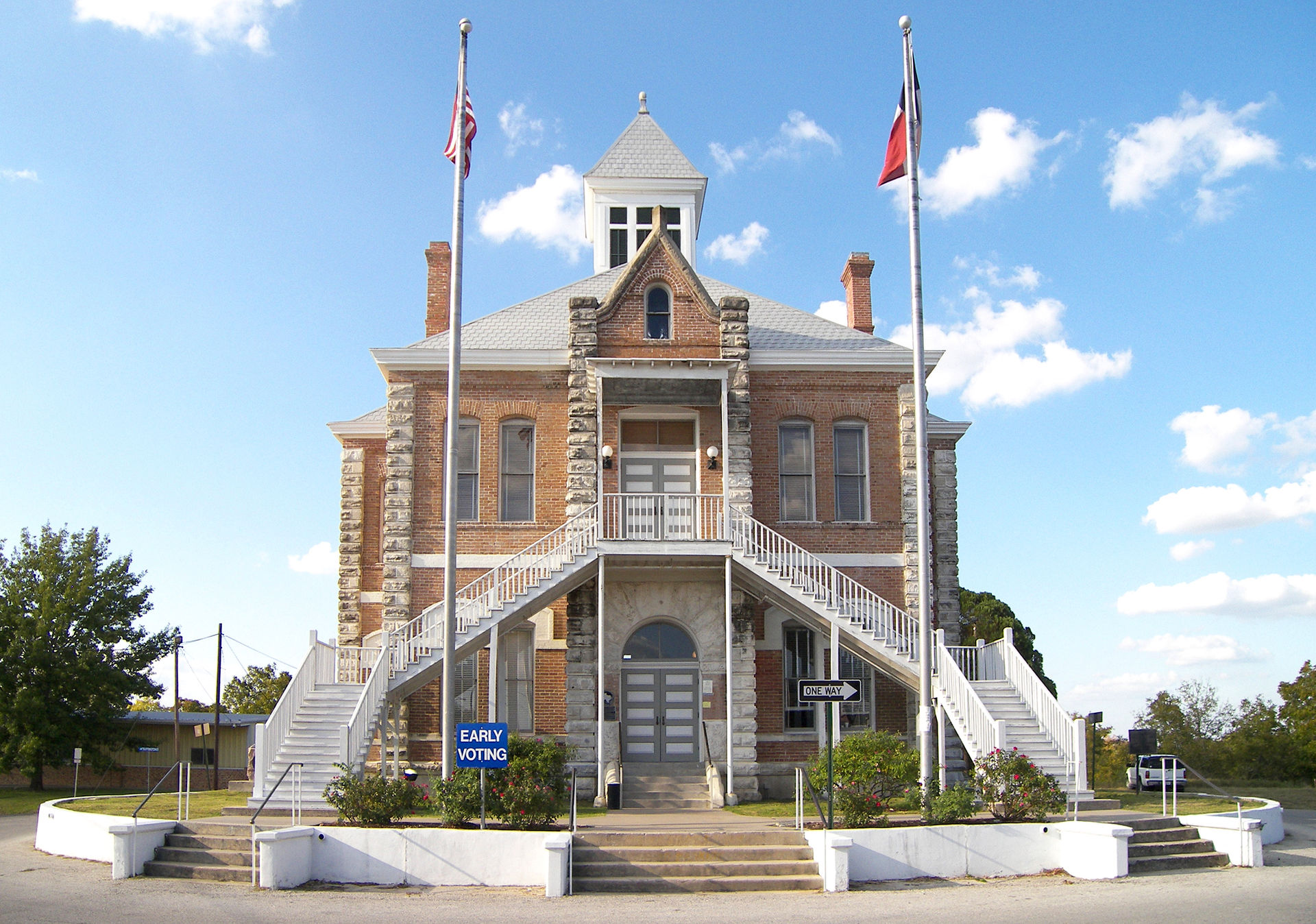 The Grimes County Courthouse was built in 1891.