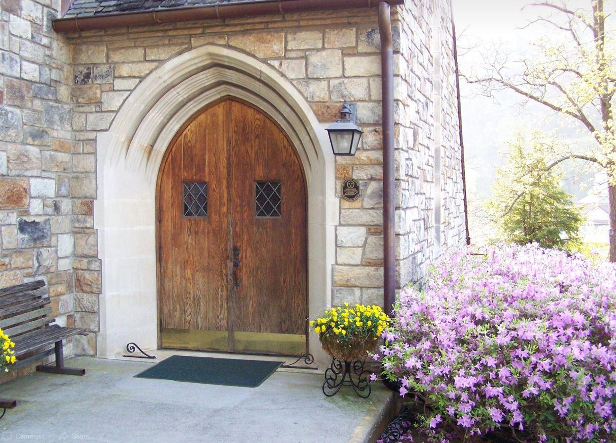Main door to the church.