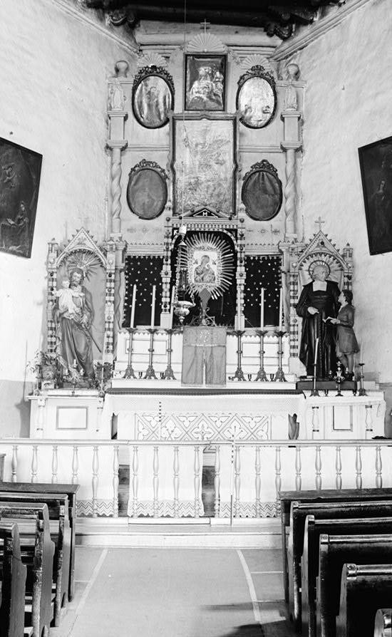 Church Altar in 1934