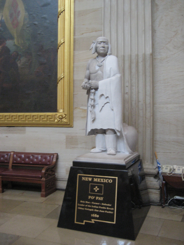 Statue of Popé, or Po'Pay, now in the National Statuary Hall Collection in the US Capitol Building as one of New Mexico's two statues