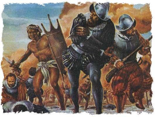 Artist's portrayal of the Pueblo Revolt