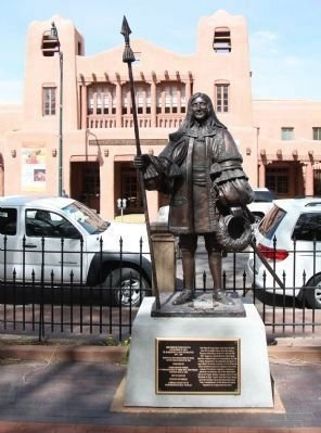 Statue of Don Diego de Vargas who served as the crown as Governor of New Mexico a decade after the revolt of 1680