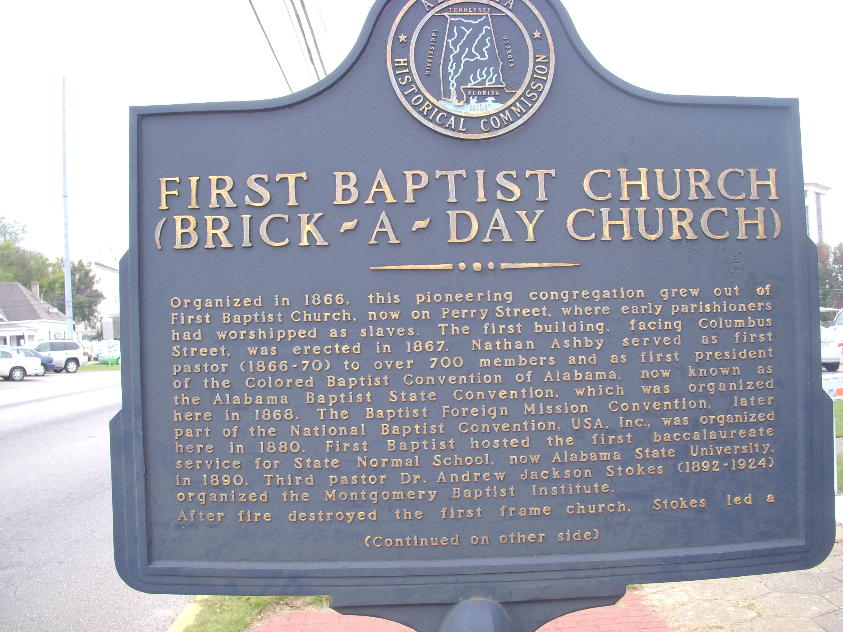 Members of the SCLC and SNCC used First Baptist Church and the Brown Chapel AME Church to plan the Selma to Montgomery marches.