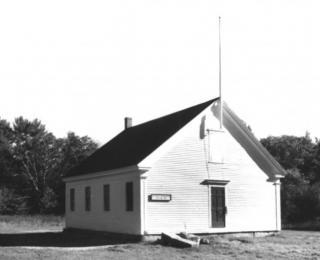 Dry Mills Schoolhouse in its original location