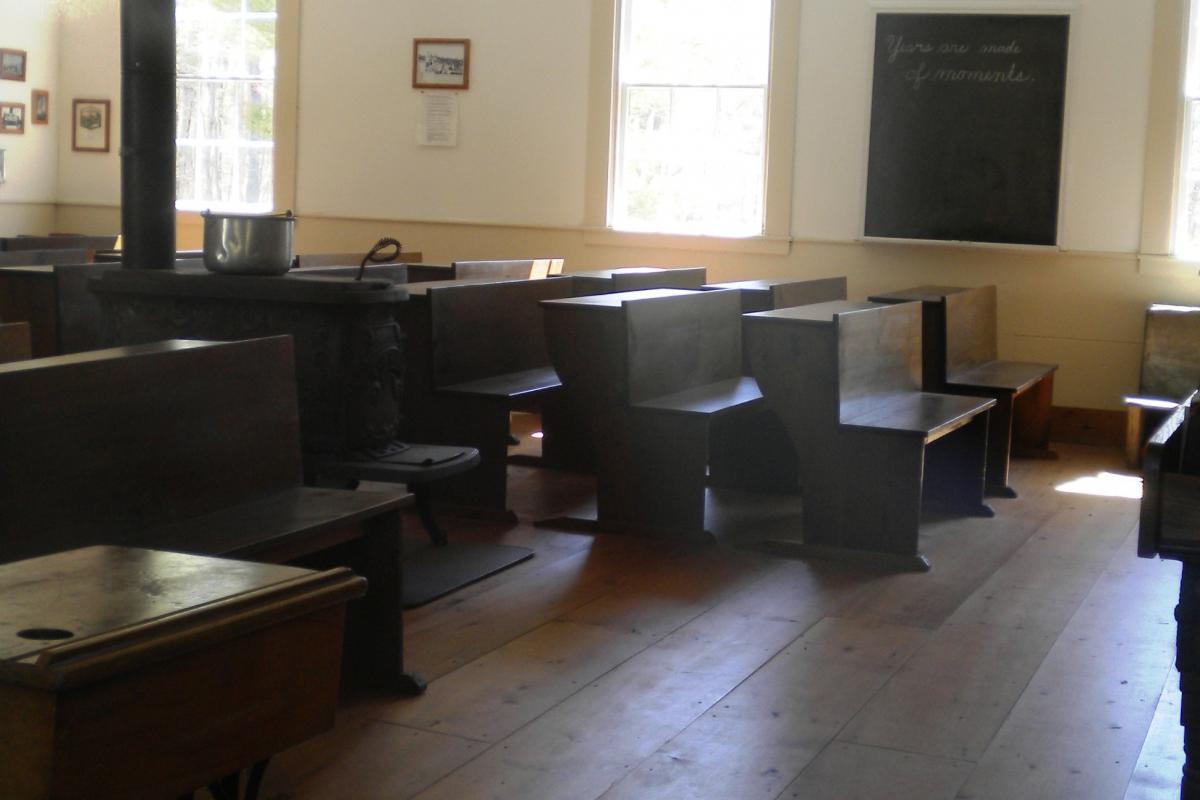 Interior of the schoolhouse
