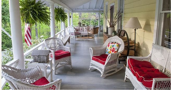 Relaxing porch at The Orchard Inn