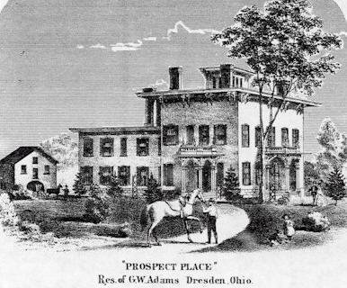 An 1850's era drawing of Prospect Place.