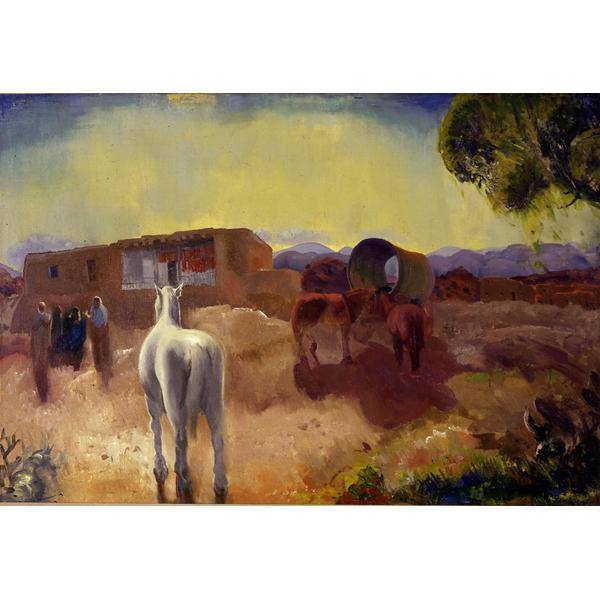 Chimayo 1917 George W. Bellows American, 1882 - 1925 oil on canvas Gift of an anonymous donor, 1974