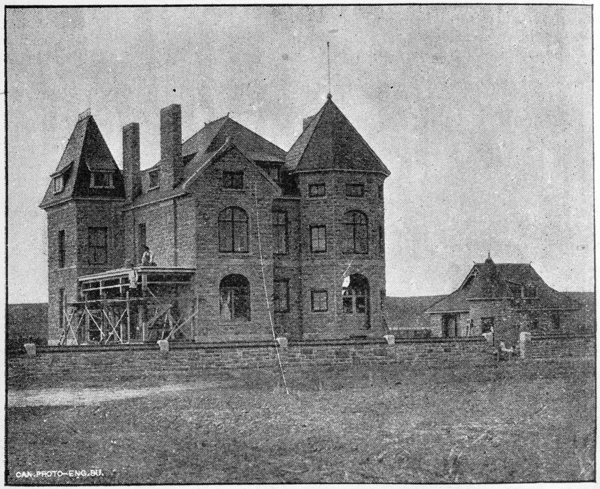 Construction of Lougheed House, 1891