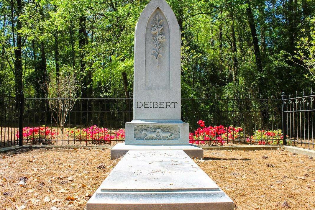 The grave of Lillian Cook-Deibert, located within Deibert Park