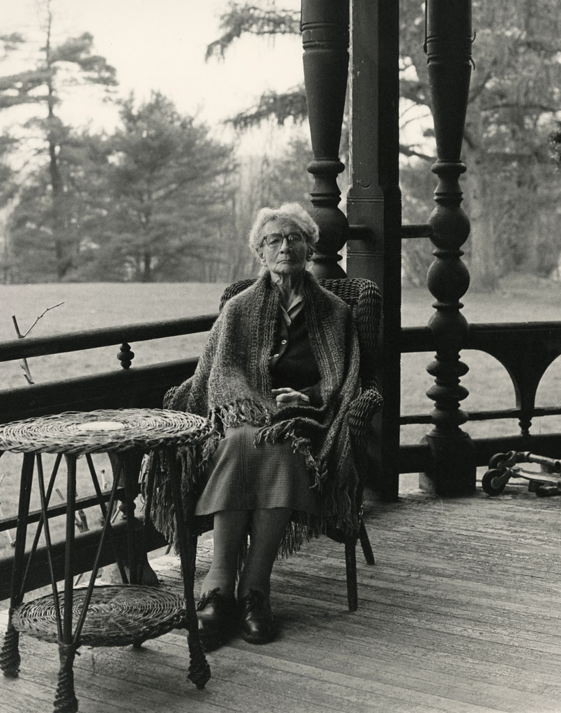 "Margaret ""Daisy"" Suckley on the Veranda of Wilderstein, 1988"
