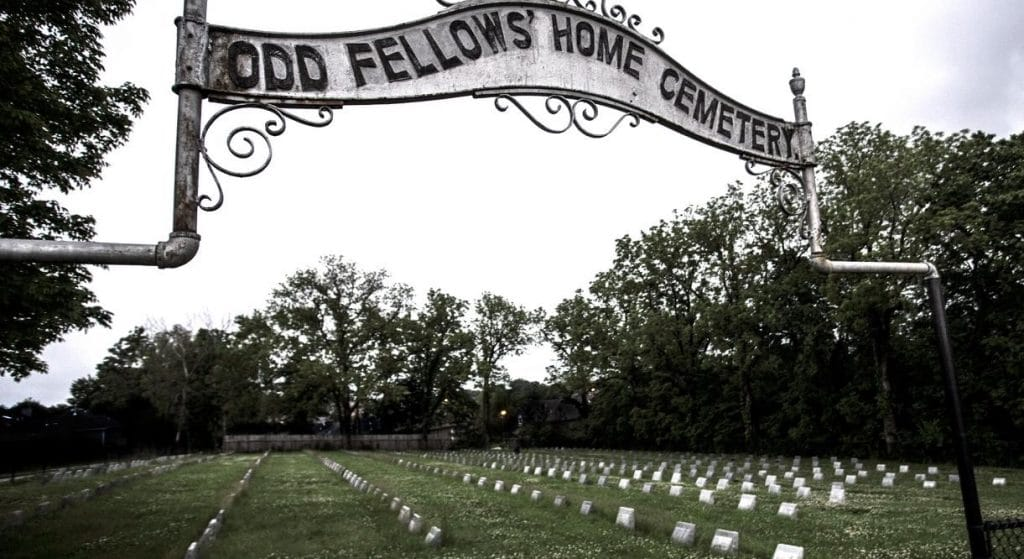 The Odd Fellows Home cemetery where hundreds of orphans were buried.