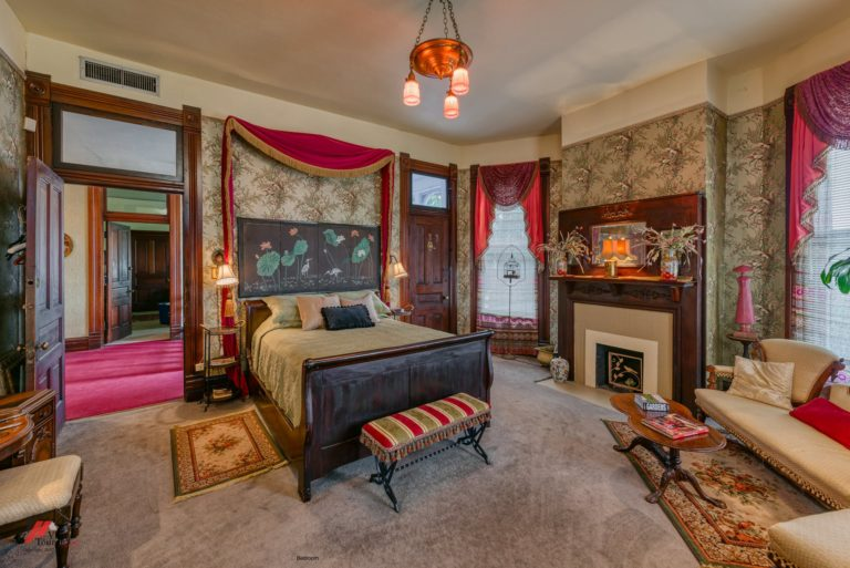 The mansion offers four bedrooms to guests.