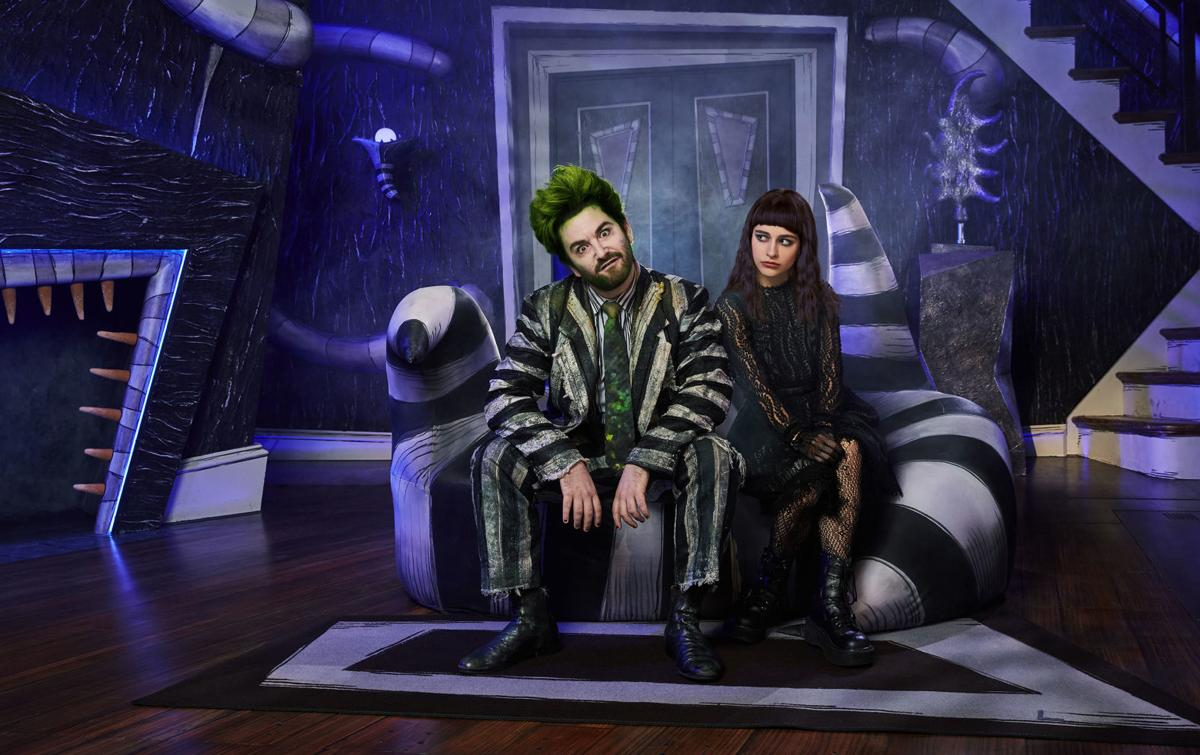 Alex Brightman and Sophia Anne Caruso in the Broadway production of Beetlejuice