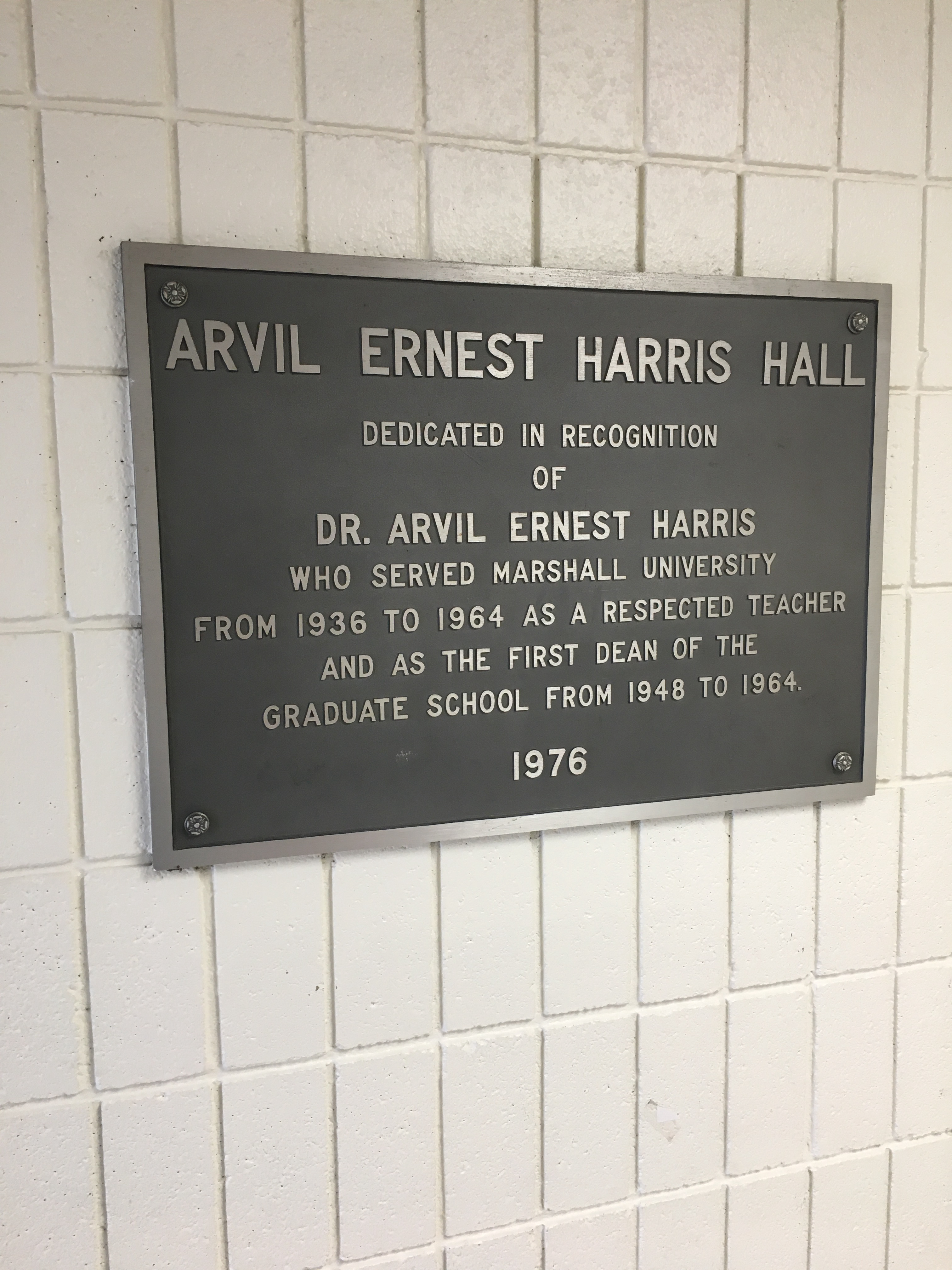 The building was formally named Harris Hall in a ceremony on November 5, 1976.