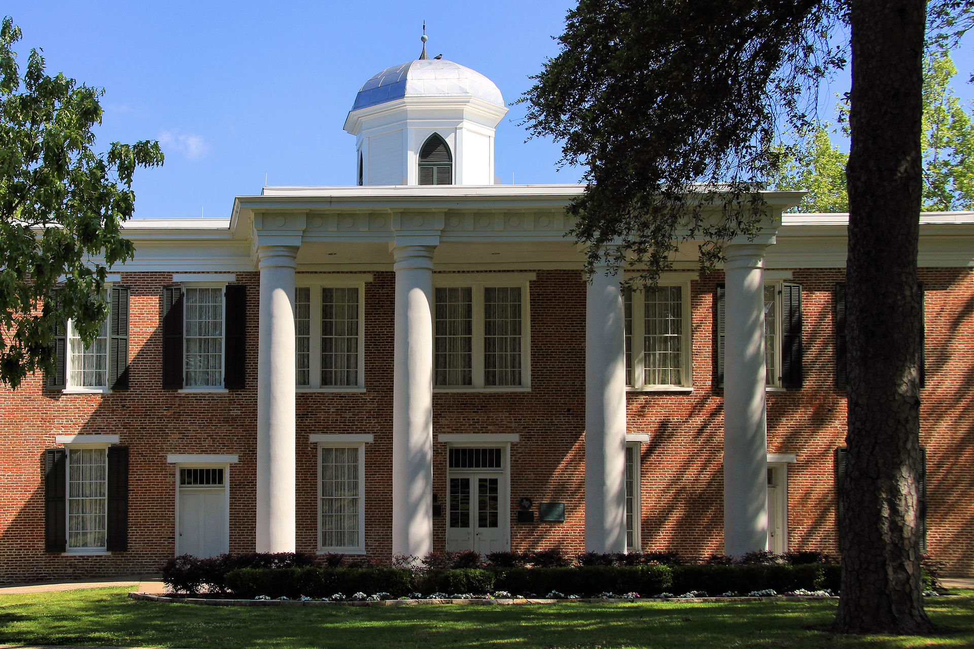 Austin Hall was built in 1852 and is the oldest continuously used educational building west of the Mississippi.