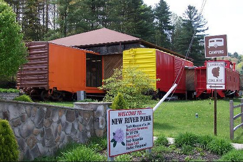 The Youth Museum is inside four authentic boxcars.