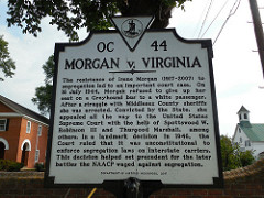 This historical marker commemorates an important court case in the history of the civil rights movement.