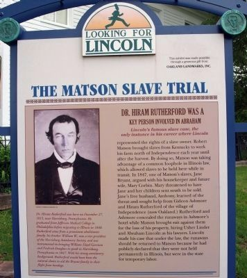 The Matson Slave Trial Marker