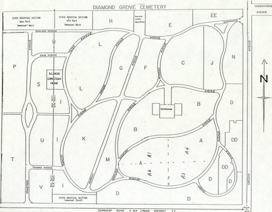 Map of Diamond Grove